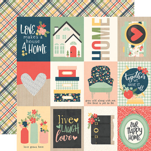 Simple Stories - So Happy Together Collection - 12 x 12 Double Sided Paper - 3 x 4 Elements