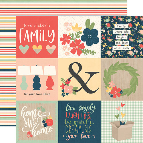 Simple Stories - So Happy Together Collection - 12 x 12 Double Sided Paper - 4 x 4 Elements