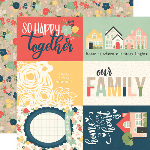 Simple Stories - So Happy Together Collection - 12 x 12 Double Sided Paper - 4 x 6 Elements