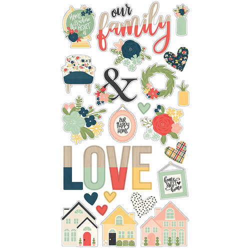 Simple Stories - So Happy Together Collection - Chipboard Stickers