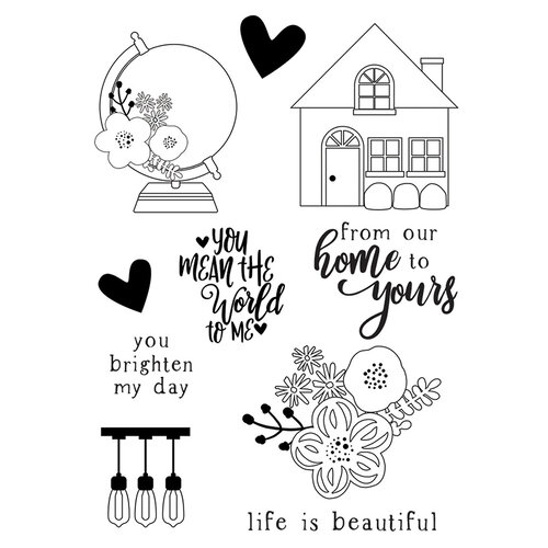 Simple Stories - So Happy Together Collection - Clear Photopolymer Stamps