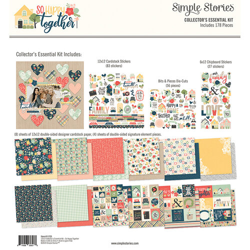 Simple Stories - So Happy Together Collection - 12 x 12 Collector's Essential Kit