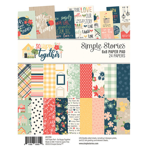 Simple Stories - So Happy Together Collection - 6 x 8 Paper Pad