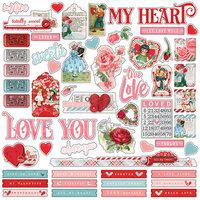 imple Stories Simple Vintage My Valentine 6 x 6 Stencil 11830