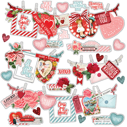 Simple Stories - Simple Vintage My Valentine Collection - 12 x 12 Banner Sticker