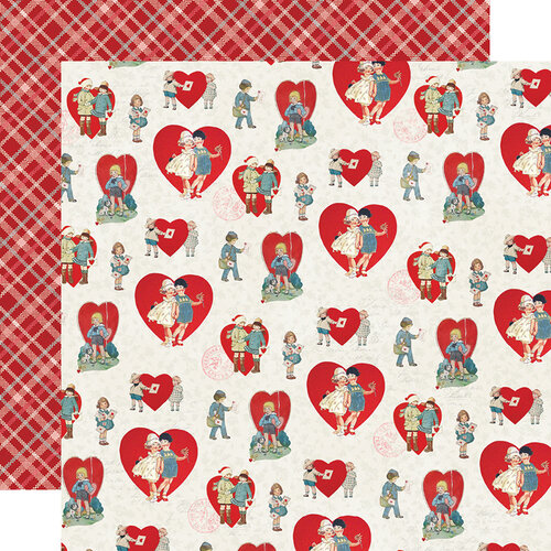 Simple Stories - Simple Vintage My Valentine Collection - 12 x 12 Double Sided Paper - Sweet on You