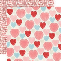 Simple Stories - Simple Vintage My Valentine Collection - 12 x 12 Double Sided Paper - Heart to Heart