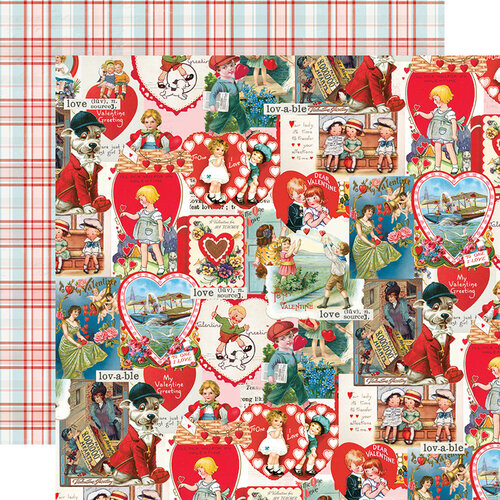 Simple Stories - Simple Vintage My Valentine Collection - 12 x 12 Double Sided Paper - Love Struck