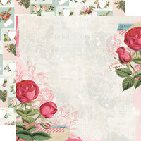 Simple Stories - Simple Vintage My Valentine Collection - 12 x 12 Double Sided Paper - Roses are Red