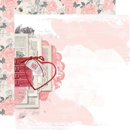 Simple Stories - Simple Vintage My Valentine Collection - 12 x 12 Double Sided Paper - Just a Crush