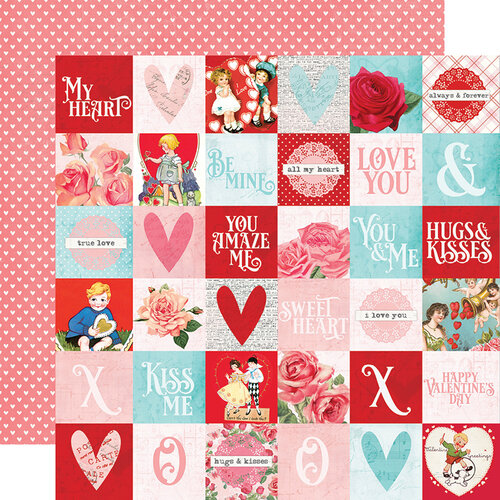 Simple Stories - Simple Vintage My Valentine Collection - 12 x 12 Double Sided Paper - 2x2 Elements