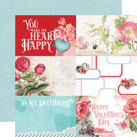 Simple Stories - Simple Vintage My Valentine Collection - 12 x 12 Double Sided Paper - 4x6 Elements