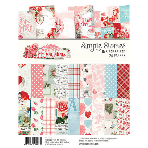Simple Stories - Simple Vintage My Valentine Collection - 6 x 8 Paper Pad