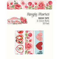 Simple Stories - Simple Vintage My Valentine Collection - Washi Tape