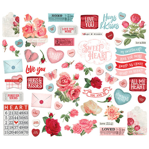 Simple Stories - Simple Vintage My Valentine Collection - Ephemera - Bits & Pieces