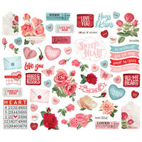 Simple Stories - Simple Vintage My Valentine Collection - Ephemera - Bits & Pieces