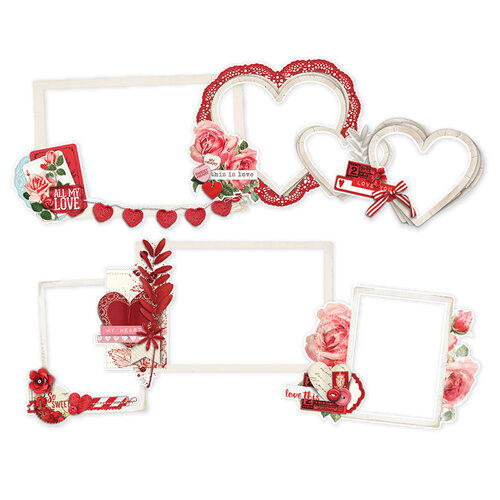 Simple Stories - Simple Vintage My Valentine Collection - Layered Frames