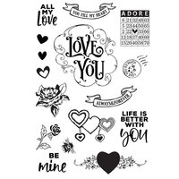 Simple Stories - Simple Vintage My Valentine Collection - Clear Photopolymer Stamps