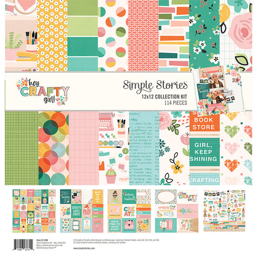 Simple Stories - Hey Crafty Girl Collection - 12 x 12 Collection Kit