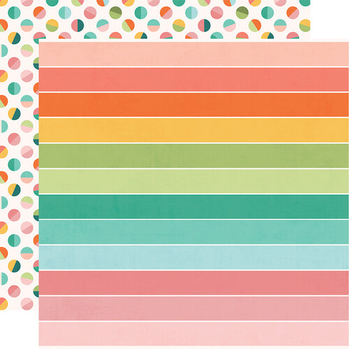 Simple Stories - Hey Crafty Girl Collection - 12 x 12 Double Sided Paper - Crafty & Happy