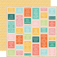 Simple Stories - Hey Crafty Girl Collection - 12 x 12 Double Sided Paper - Say What