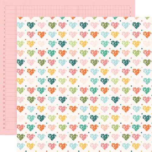 Simple Stories - Hey Crafty Girl Collection - 12 x 12 Double Sided Paper - Made with Love