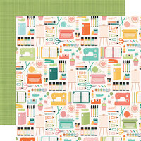 Simple Stories - Hey Crafty Girl Collection - 12 x 12 Double Sided Paper - Makers Gonna Make
