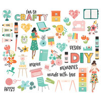 Simple Stories - Hey Crafty Girl Collection - Ephemera - Bits and Pieces