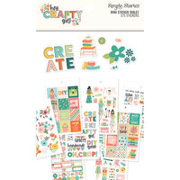 Simple Stories - Hey Crafty Girl Collection - Mini Sticker Tablet