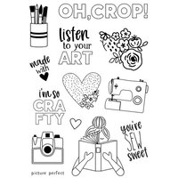 Simple Stories - Hey Crafty Girl Collection - Clear Photopolymer Stamps