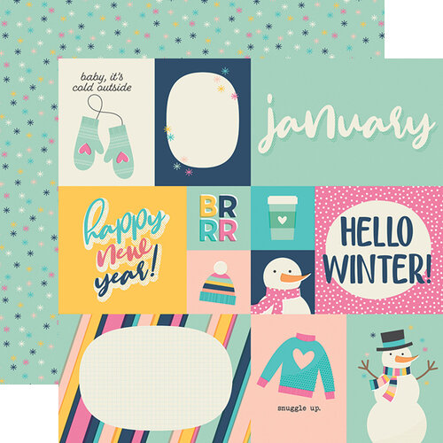 Simple Stories - Best Year Ever Collection - 12 x 12 Double Sided Paper - January