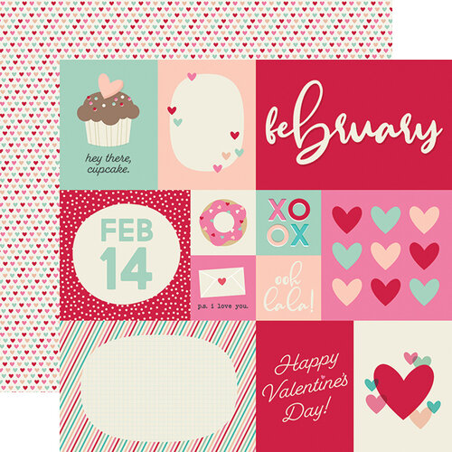 Simple Stories - Best Year Ever Collection - 12 x 12 Double Sided Paper - February