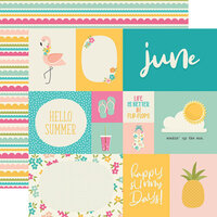 Simple Stories - Best Year Ever Collection - 12 x 12 Double Sided Paper - June