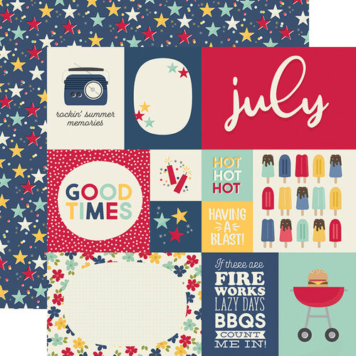 Simple Stories - Best Year Ever Collection - 12 x 12 Double Sided Paper - July