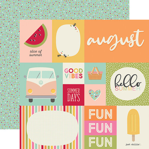 Simple Stories - Best Year Ever Collection - 12 x 12 Double Sided Paper - August