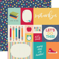 Simple Stories - Best Year Ever Collection - 12 x 12 Double Sided Paper - September