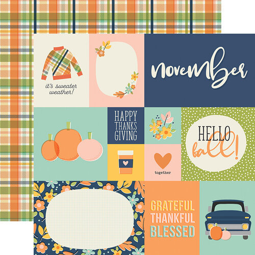 Simple Stories - Best Year Ever Collection - 12 x 12 Double Sided Paper - November