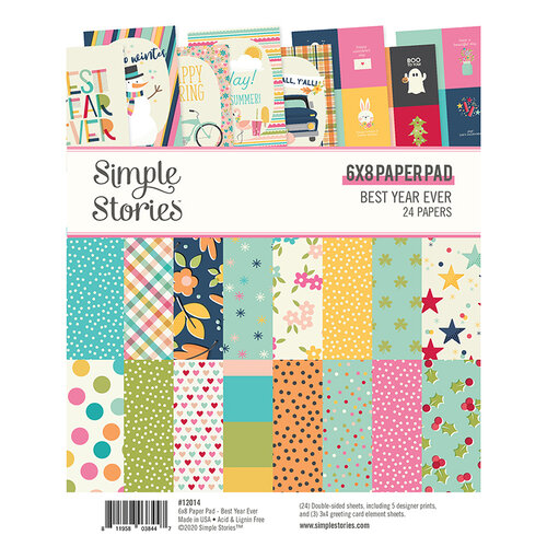Simple Stories - Best Year Ever Collection - 6 x 8 Paper Pad