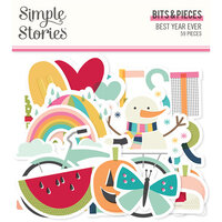 Simple Stories - Best Year Ever Collection - Ephemera - Bits and Pieces