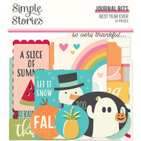 Simple Stories - Best Year Ever Collection - Ephemera - Journal Bits and Pieces