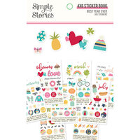 Simple Stories - Best Year Ever Collection - 4 x 6 Sticker Book