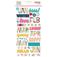 Simple Stories - Best Year Ever Collection - Foam Stickers