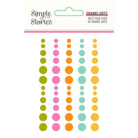 Simple Stories - Best Year Ever Collection - Enamel Dots
