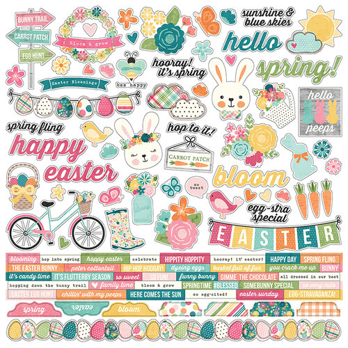 Simple Stories - Hip Hop Hooray Collection - 12 x 12 Cardstock Stickers - Combo