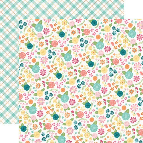 Simple Stories - Hip Hop Hooray Collection - 12 x 12 Double Sided Paper - Blossoms
