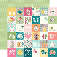 Simple Stories - Hip Hop Hooray Collection - 12 x 12 Double Sided Paper - 2 x 2 Elements