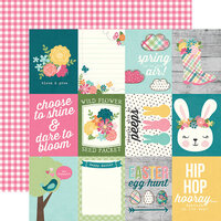Simple Stories - Hip Hop Hooray Collection - 12 x 12 Double Sided Paper - 3 x 4 Elements