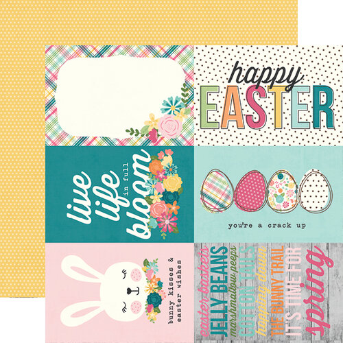 Simple Stories - Hip Hop Hooray Collection - 12 x 12 Double Sided Paper - 4 x 6 Elements