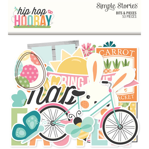 Simple Stories - Hip Hop Hooray Collection - Ephemera - Bits and Pieces