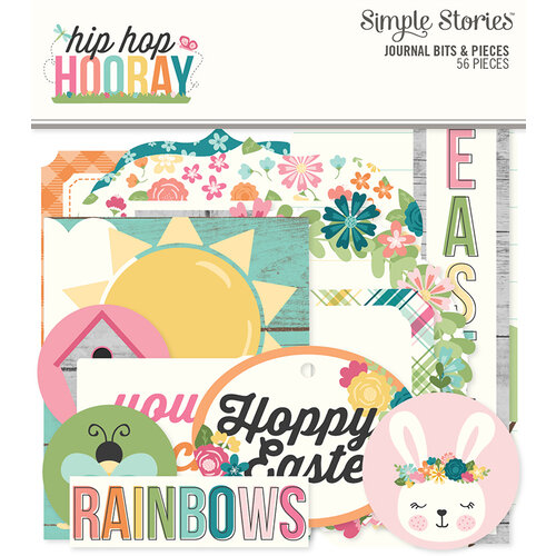 Simple Stories - Hip Hop Hooray Collection - Ephemera - Journal Bits and Pieces